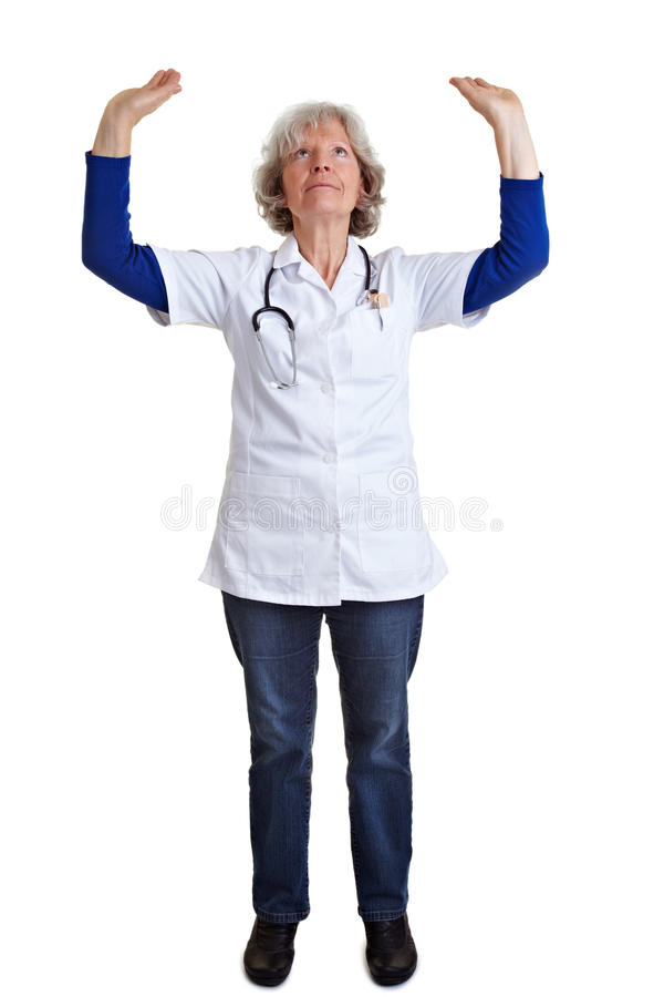 Download Doctor lifting arms stock image. Image of hold, cutout - 18814259