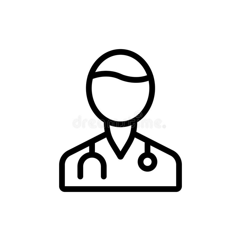 Doctor line icon royalty free stock photos
