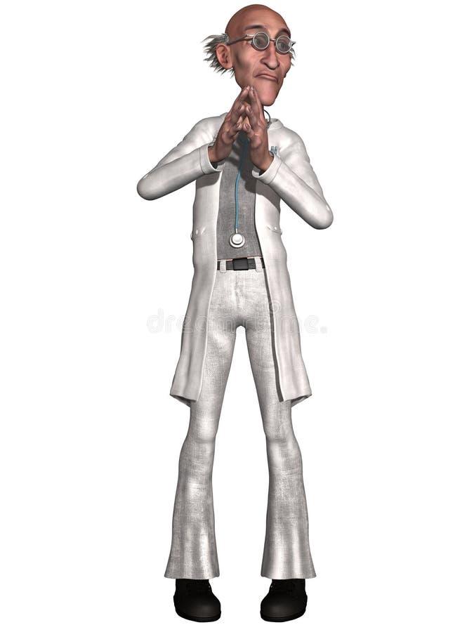 Doctor loco ilustración del vector