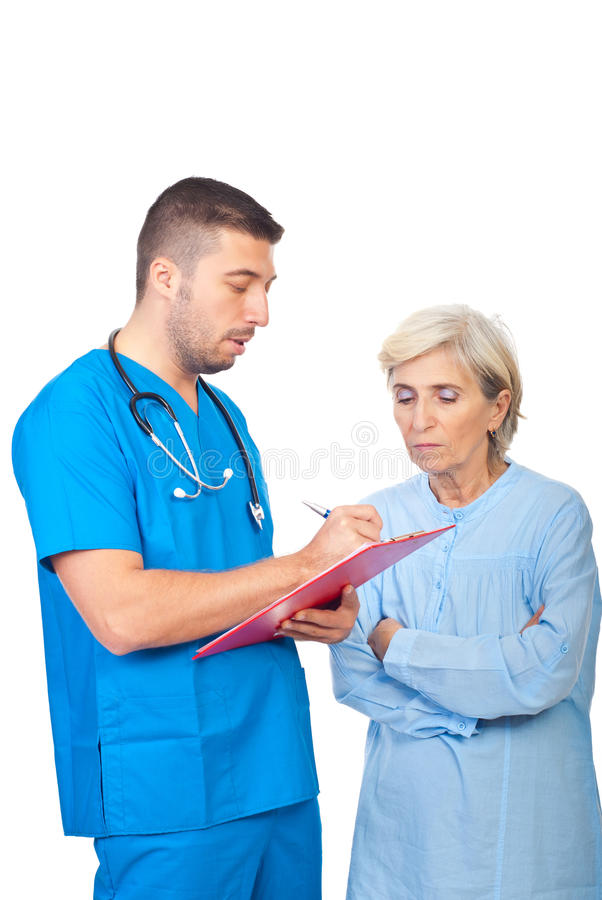 Download Doctor Male Write Prescription For Patient Stock Image - Image: 16464555
