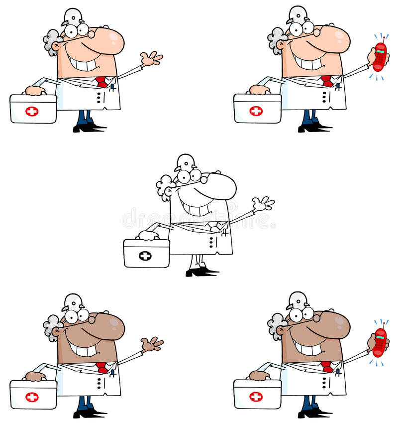 Download Doctor man stock vector. Image of drawing, care, african - 24496193
