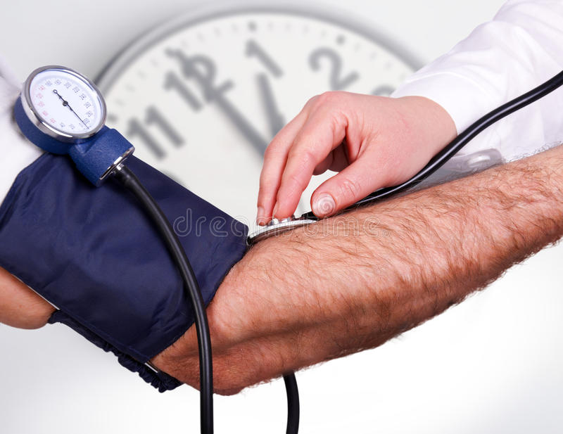 The doctor measures pressure medical examination stethoscope stock images
