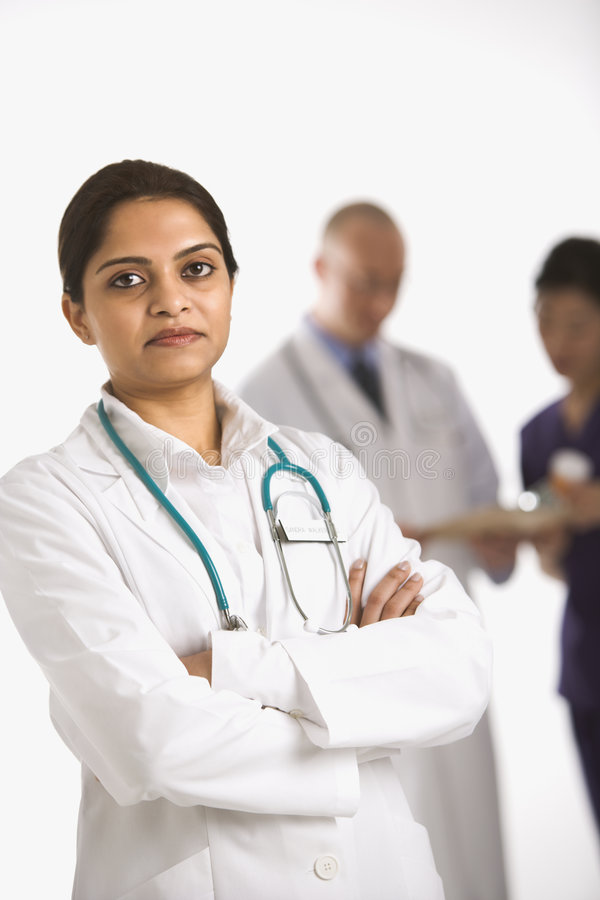 Doctor and medical staff. stock photography