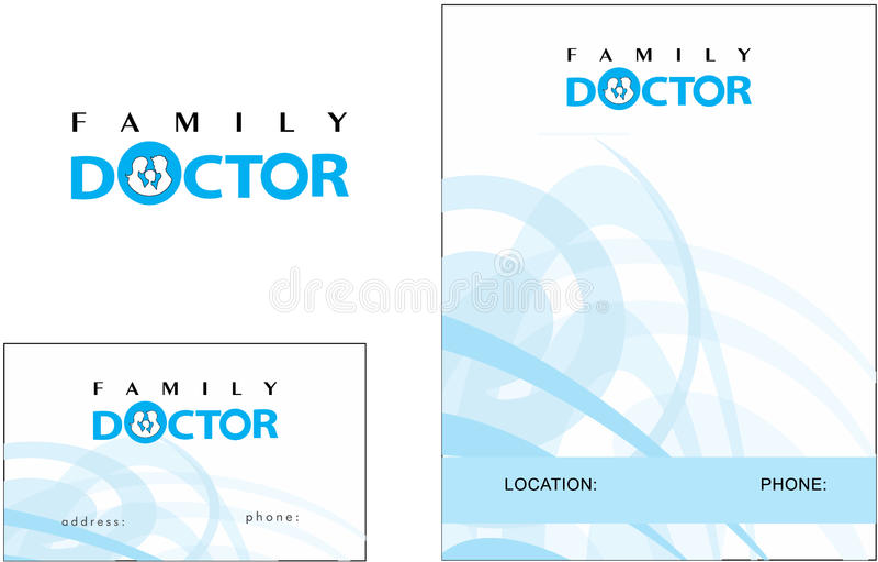 Download Doctor Medicine Modern Logo Business Card Stock Vector