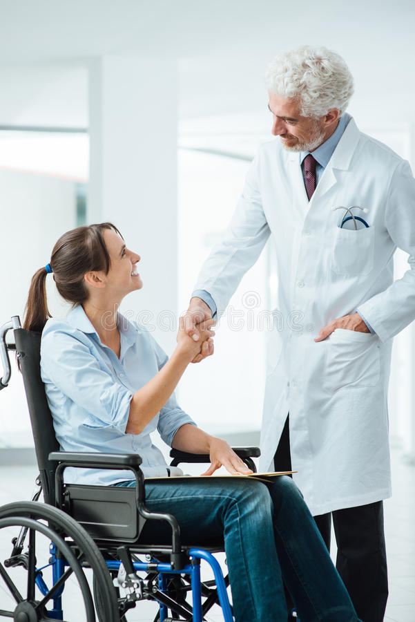 Doctor meeting his new patient royalty free stock photography