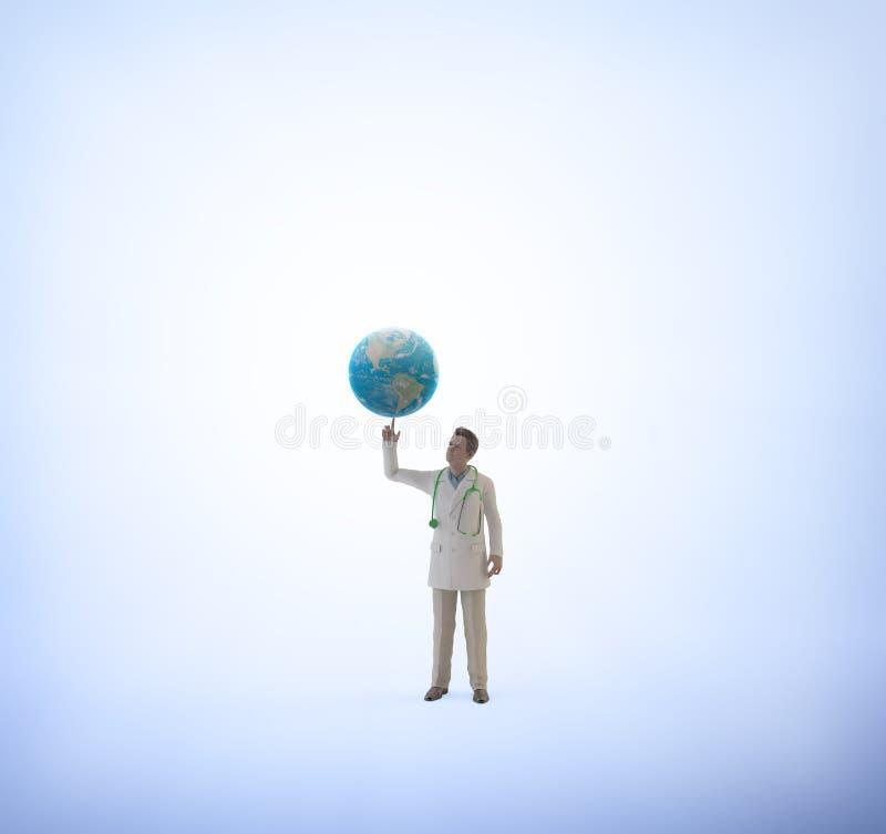 Download Doctor Minúsculo Con Un Globo Stock de ilustración - Ilustración de cuidado, laboratorio: 42432581