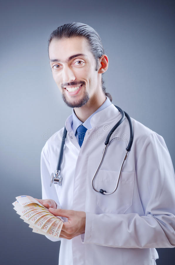 Download Doctor with money stock image. Image of dollar, corruption - 22231975