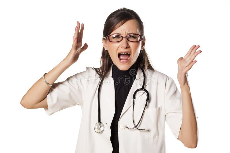 Doctor nervioso fotos de archivo libres de regalías
