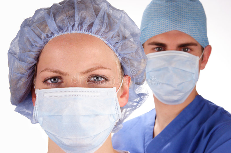 Doctor and Nurse 3 stock photography