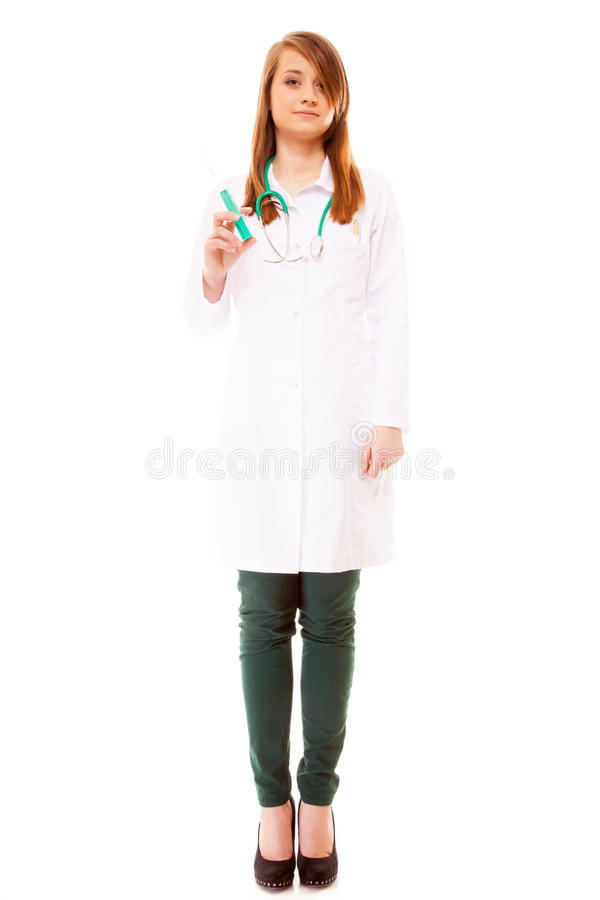 Download Doctor Or Nurse Holds A Syringe, Healthcare Concept Stock Image - Image of clinic, illness: 39507369