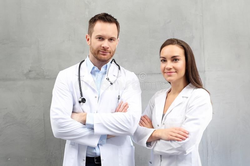 Doctor and nurse. Medical team royalty free stock image