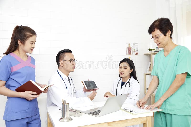 doctor and nurse Medical team royalty free stock photography
