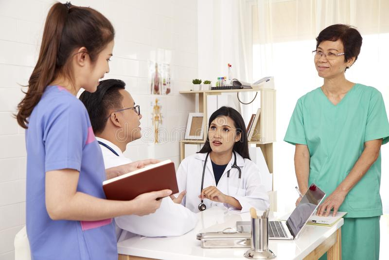 doctor and nurse Medical team stock photos