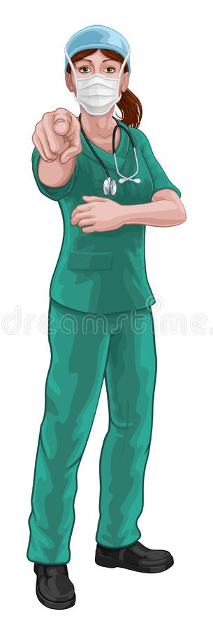 Nurse Scrubs Stock Illustrations – 1,359 Nurse Scrubs ...