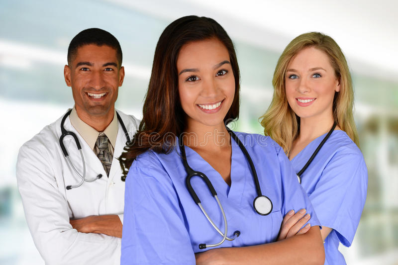 Doctor and Nurses stock photography