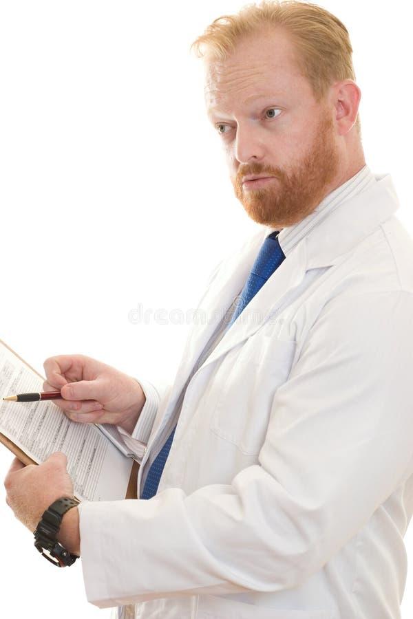Doctor o científico que discute la información fotografía de archivo libre de regalías