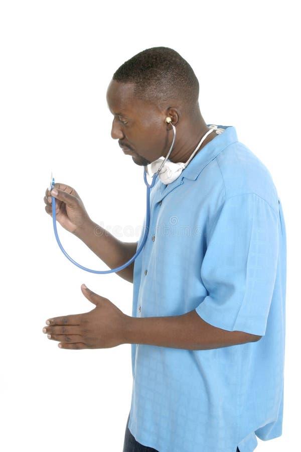 Doctor o enfermera de sexo masculino 6 imagen de archivo libre de regalías