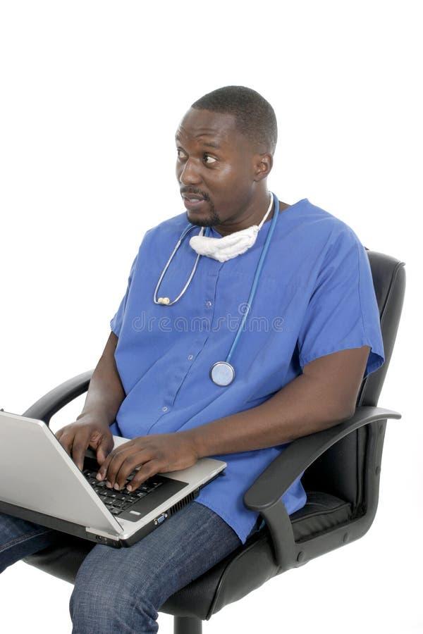 Doctor o enfermera de sexo masculino 8 imágenes de archivo libres de regalías