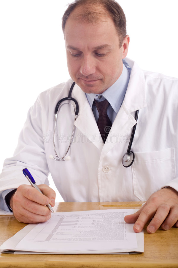 Download Doctor at the office stock image. Image of background - 4260307
