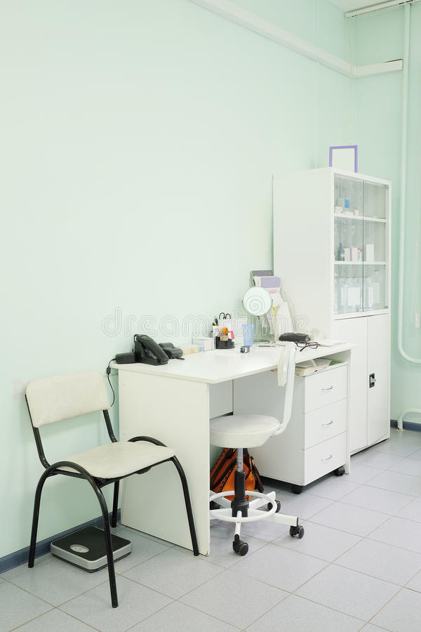 Doctor office. Interior of a doctor office royalty free stock photo