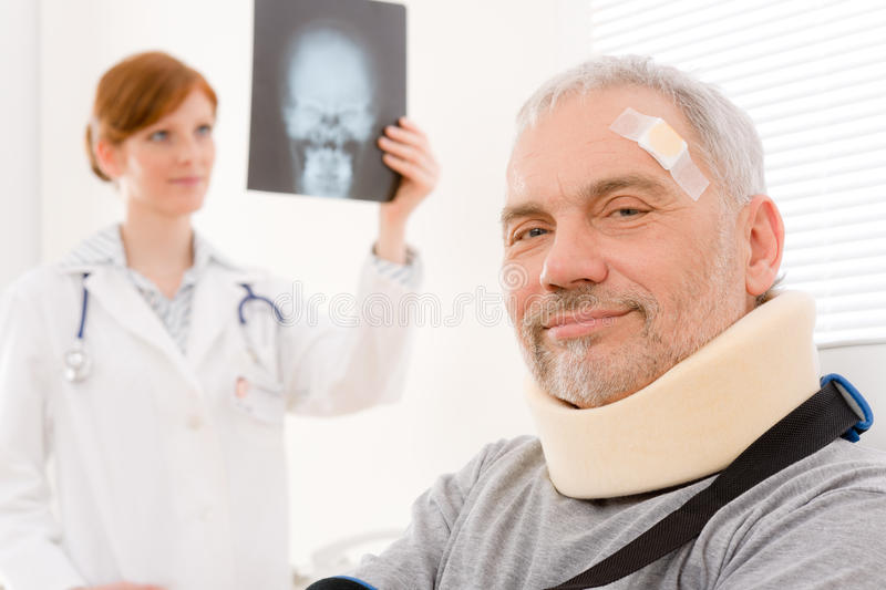 Doctor office - senior patient physician x-ray stock images