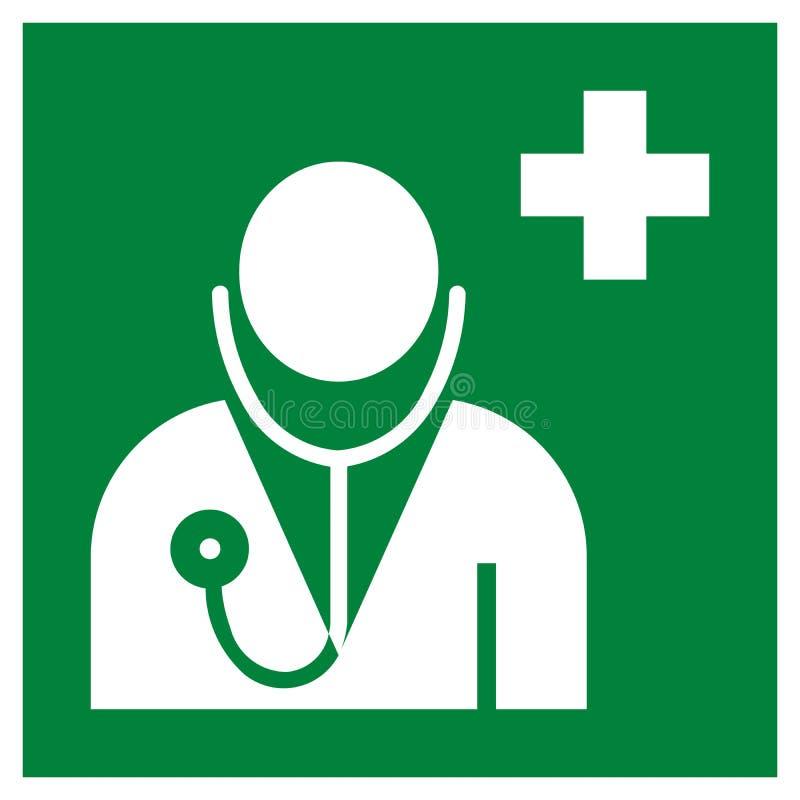 Doctor office symbol pictogram stock illustration