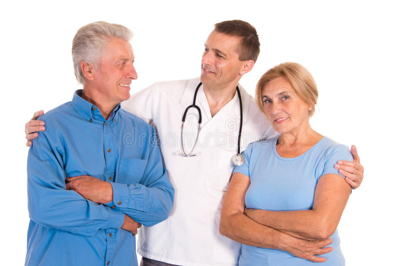 Download Doctor With Old Patients Royalty Free Stock Photography - Image: 21790817