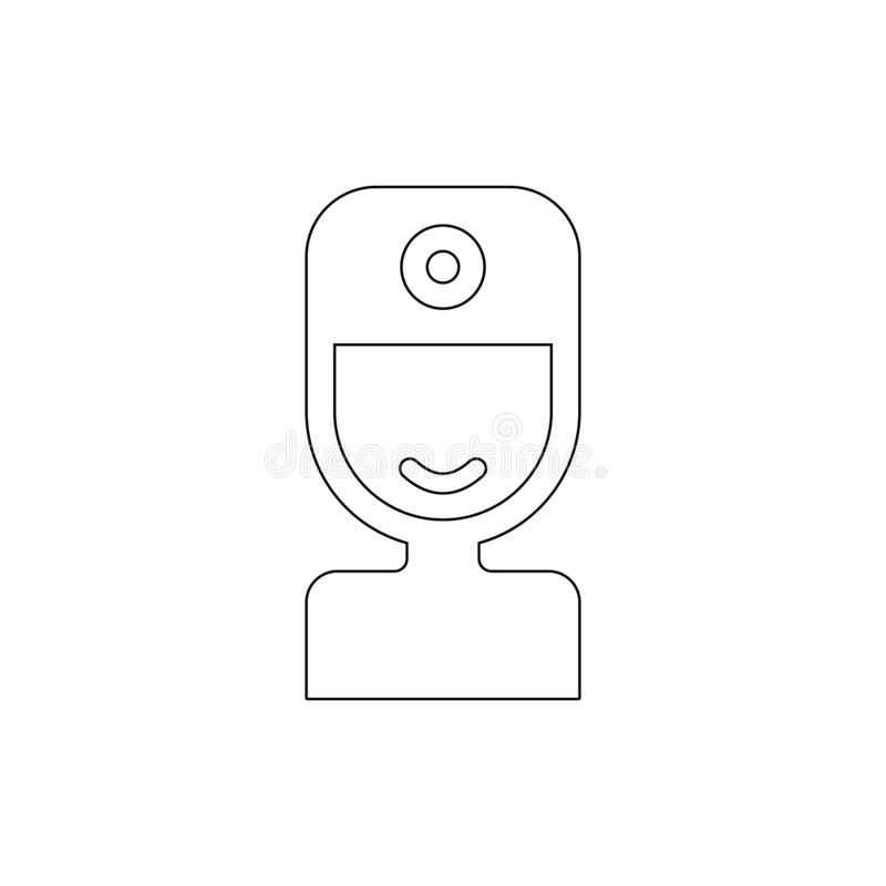 Doctor outline icon. Signs and symbols can be used for web, logo, mobile app, UI, UX royalty free illustration