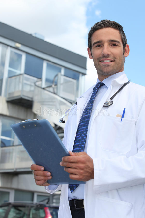 Download Doctor outside stock photo. Image of professional, home - 28641906