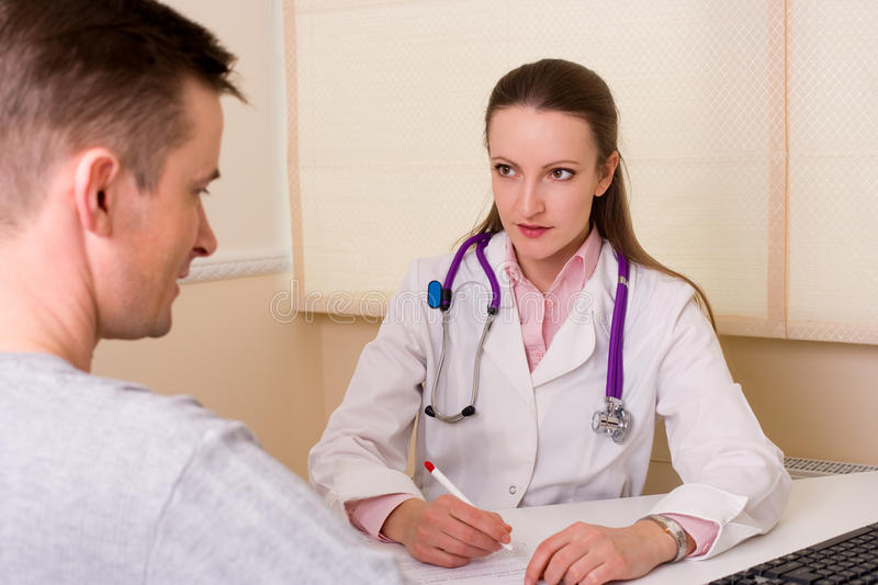 Download Doctor with Patient stock image. Image of adult, people - 18286149