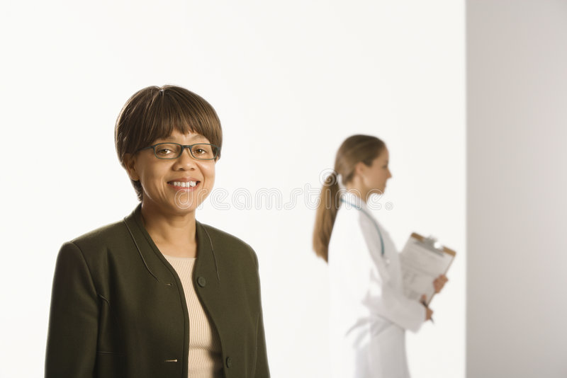Doctor and patient. royalty free stock image
