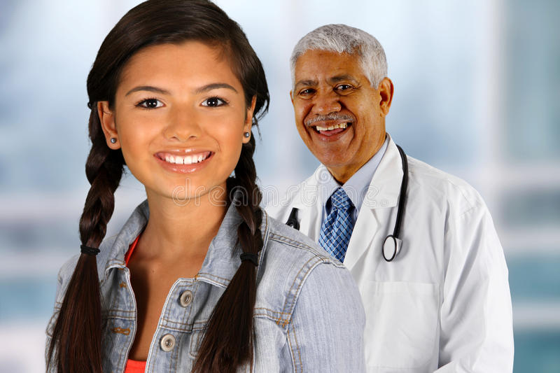 Doctor and Patient. Together in the hospital stock photography