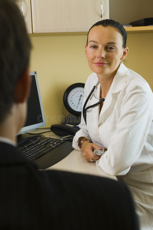 Doctor & Patient stock image