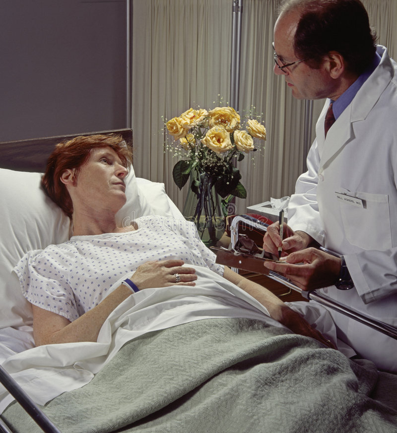 Download Doctor with patient stock image. Image of female, chart - 5939871
