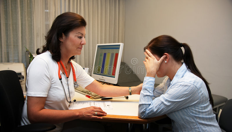 Download Doctor patient stock image. Image of interview, solace - 7051085