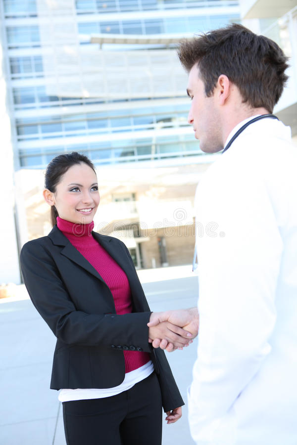Doctor and Patient Handshake royalty free stock photography