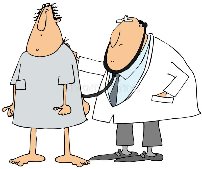 Doctor and patient royalty free illustration
