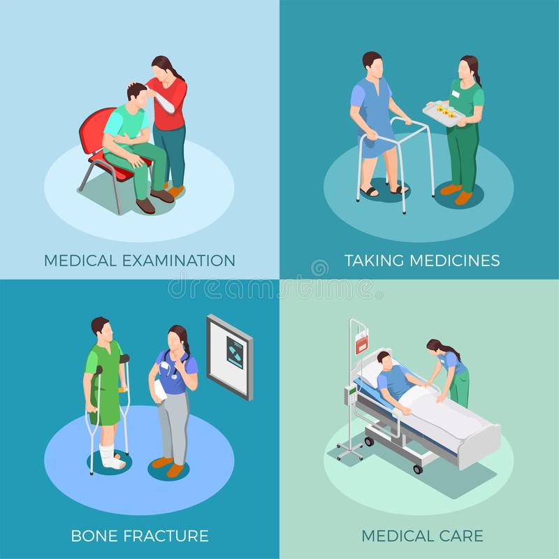 Doctor Patient Isometric Design Concept vector illustration