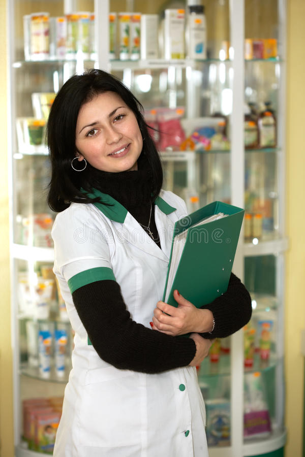 Download Doctor at pharmacy stock photo. Image of caucasian, expertise - 27514920