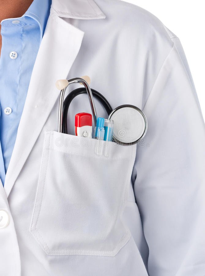 Free Doctor Pocket Lab Coat Stock Photography - 21882762