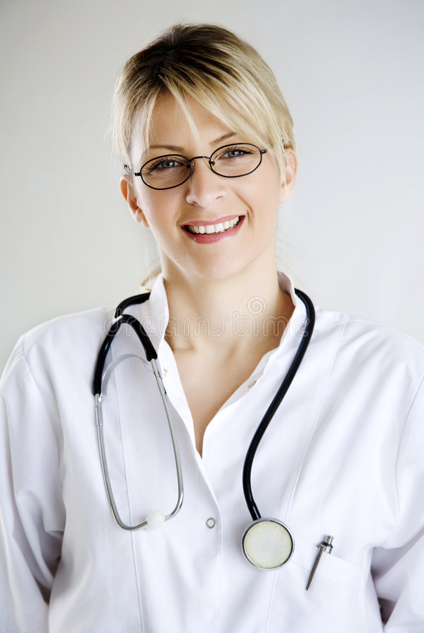 Doctor portrait stock image