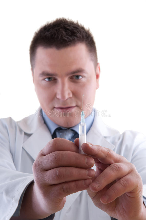 Doctor Preparing Anesthetic Syringe Stock Photography