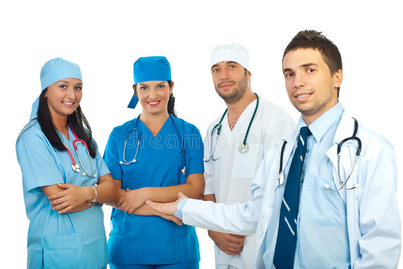 Download Doctor presenting his team stock photo. Image of background - 16433232