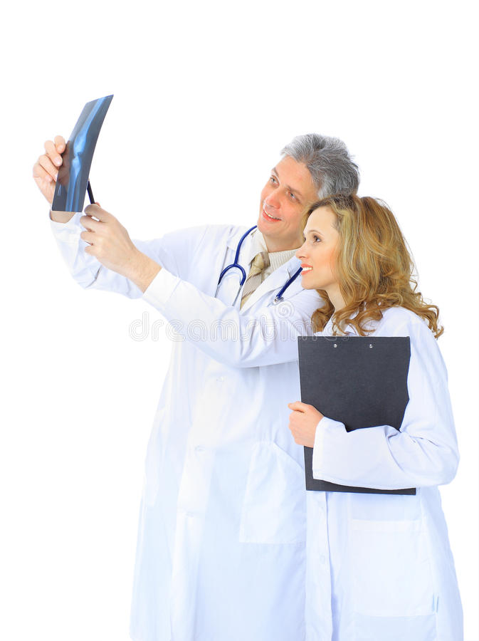 Doctor of professional training of the Intern. stock photo