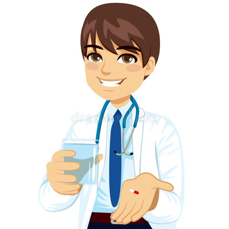 Doctor que da la píldora libre illustration