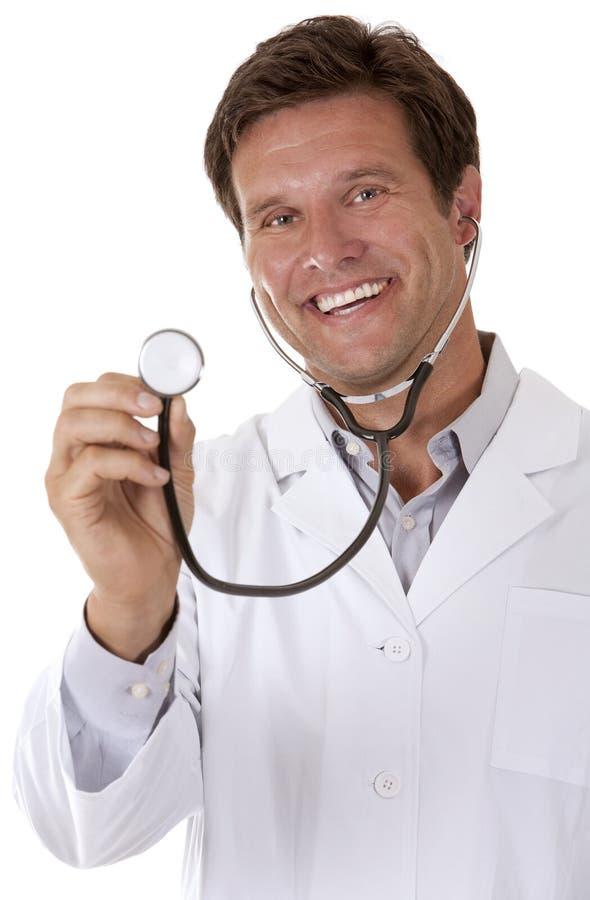 Doctor que escucha foto de archivo libre de regalías
