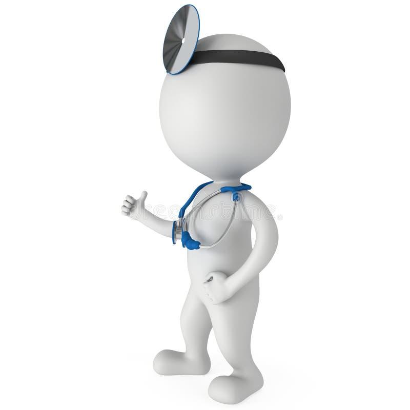 Doctor que muestra los pulgares para arriba libre illustration