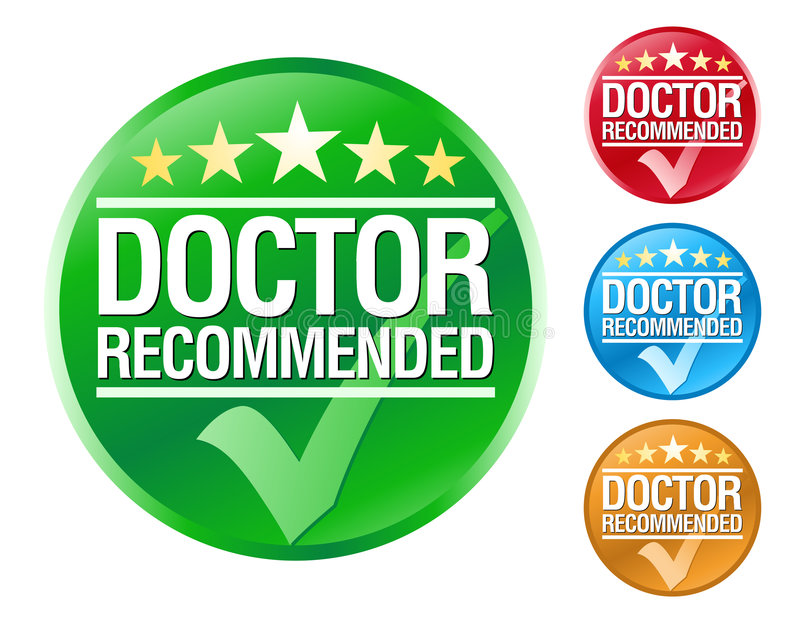 Doctor Recommend Icons royalty free illustration
