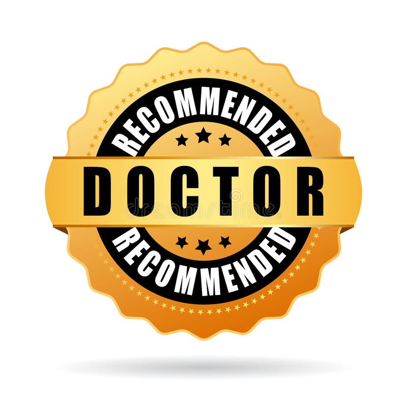 Doctor recommended vector icon royalty free illustration