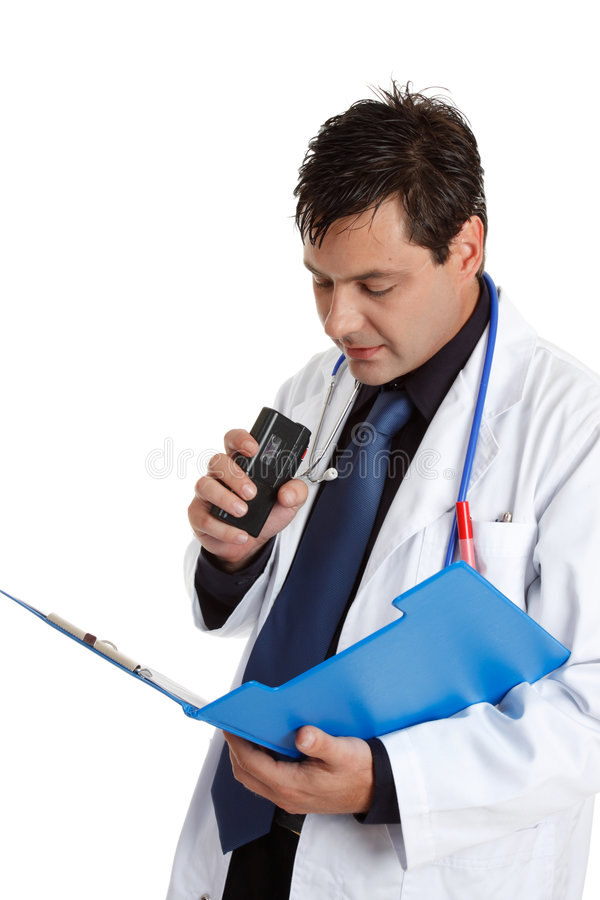 Doctor recording information stock photos